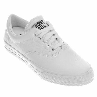 2f21af303cb ... 50% off o tênis converse skateboard skidgrip cvo leather ox branco é  uma boa pedida ...