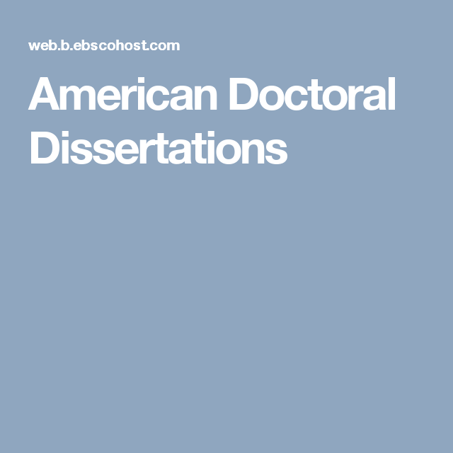 American doctoral dissertations online music