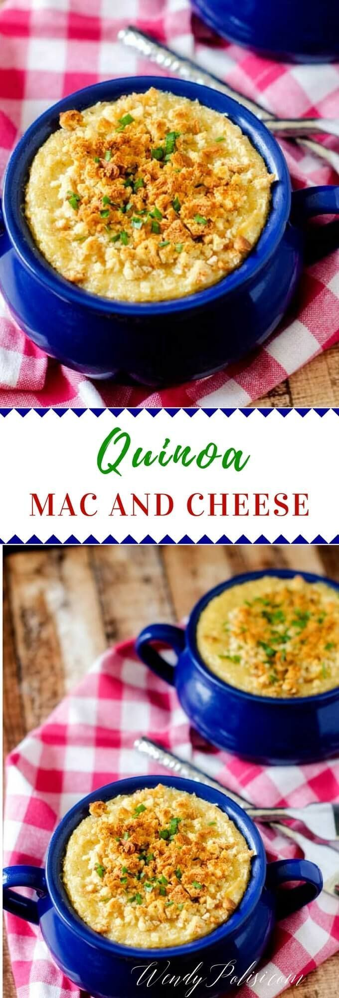 Mac and Cheese This Quinoa Mac n Cheese offers all the creamy yumminess of traditional Mac n Cheese with the health benefits of quinoa. A favorite quinoa recipe for kids. via @wendypolisiThis Quinoa Mac n Cheese offers all the creamy yumminess of traditional Mac n Cheese with the health benefits of quinoa. A favorite quinoa recipe for ...