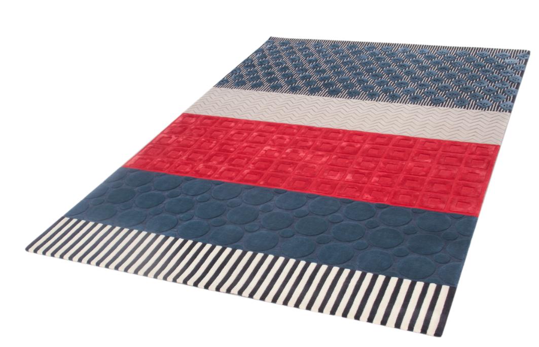 Patchwork alfombra contempor nea azul roche bobois tappeti alfombras carpets rugs in - Alfombras contemporaneas ...