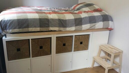Kallax Ikea Hack Bed Double Bed With Extra Storage Underneath