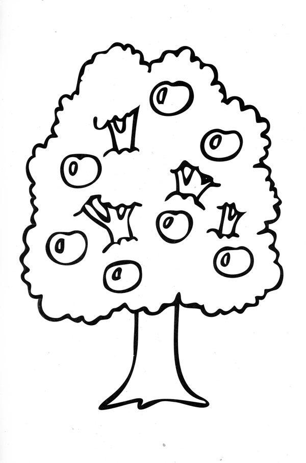 Раскраски Деревья раскраски деревья, раскраски природа ...