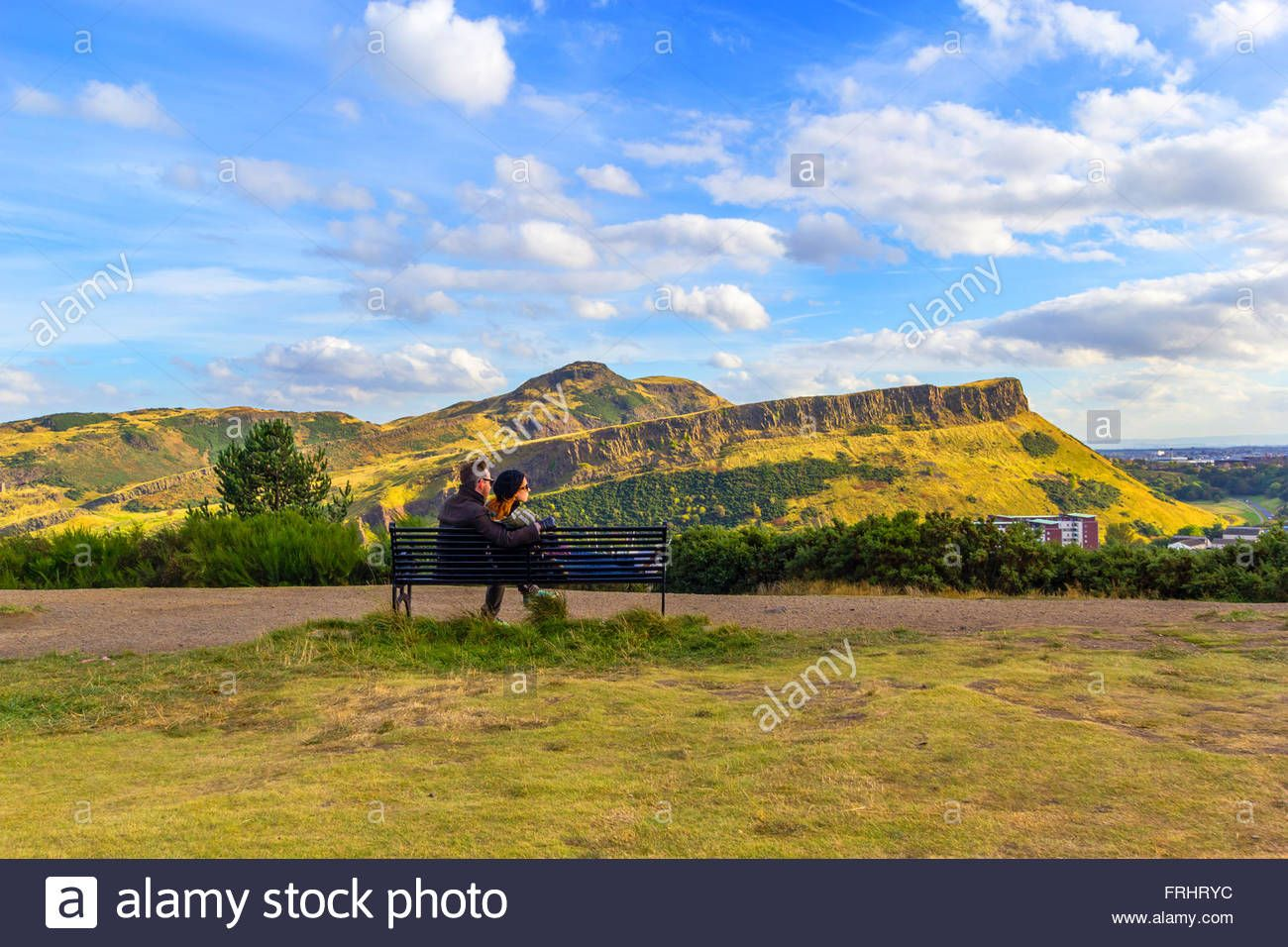 Download This Stock Image A Young Couple Sitting On The Bench At Carlton Hill Edinburgh Scotland Uk Frhryc From Alamy S L Photo Stock Photos Carlton Hill