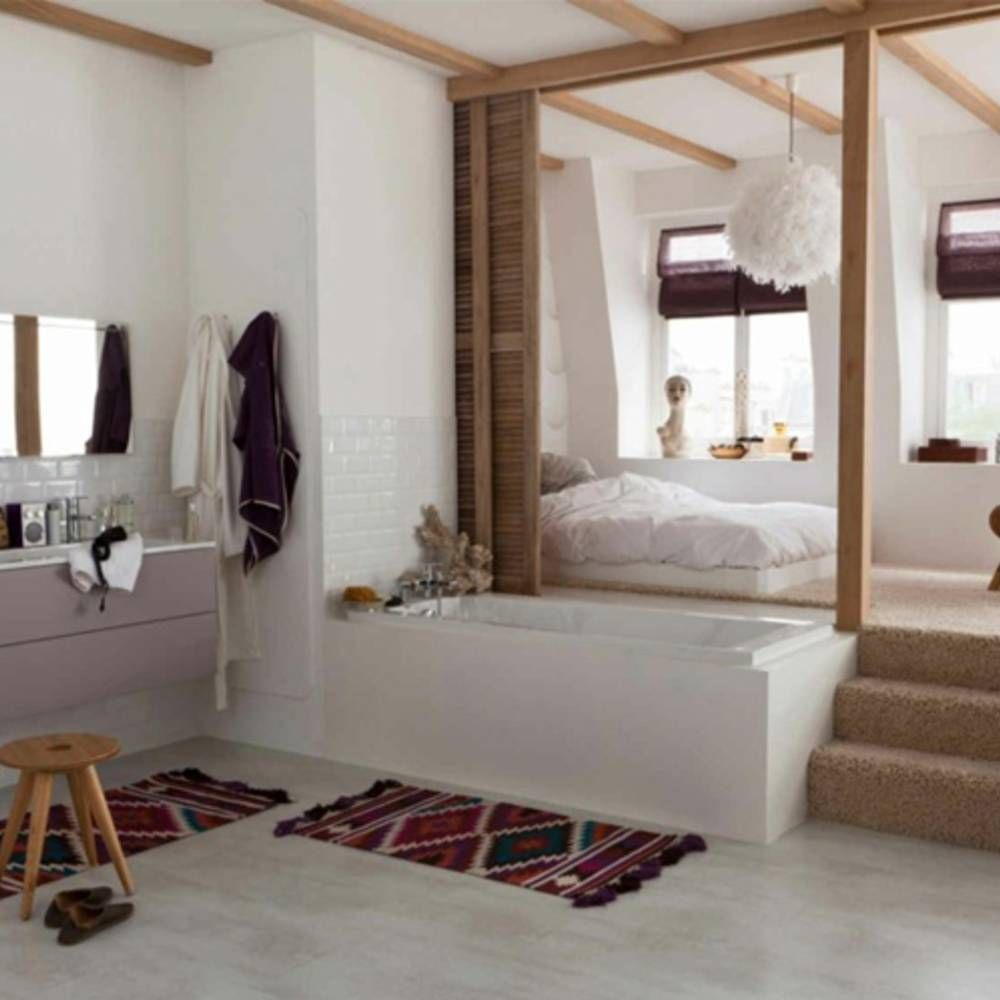30 jolies suites parentales elle d coration d co suite parentale salle de bain salle de - Paroi coulissante chambre ...