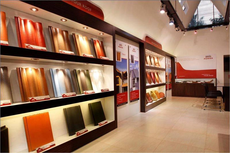 Monier Showroom Edapally Kochi Savio And Rupa Interior Concepts Bangalore Showroom Interior