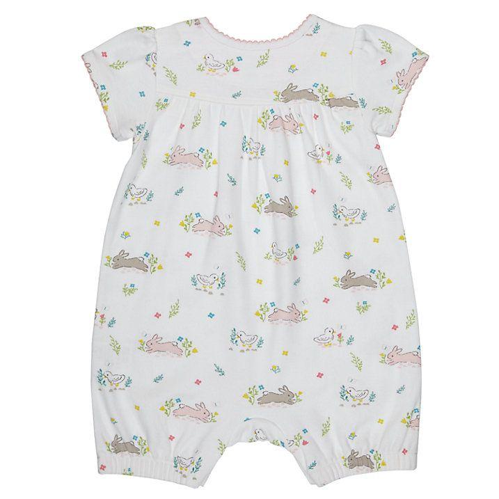 6ff5140e5ef Buy John Lewis Baby Bunny Print Romper Playsuit