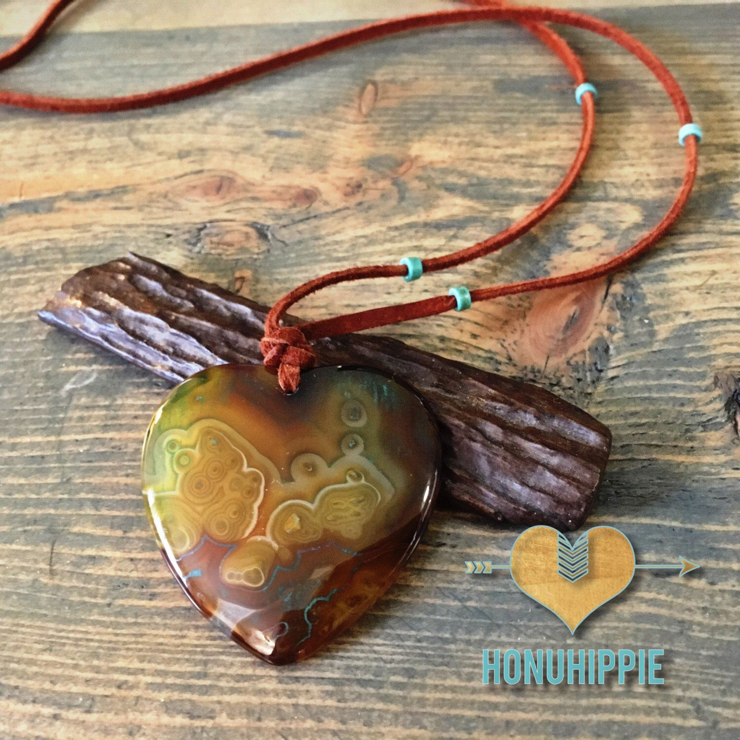 A personal favorite from my Etsy shop https://www.etsy.com/listing/501842687/agate-heart-shaped-necklace-boho-hippie