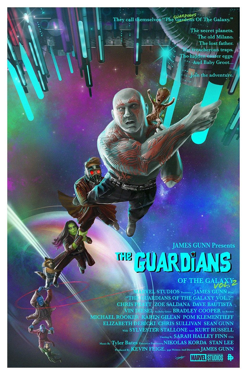 These GUARDIANS OF THE GALAXY VOL. 2 Poster Designs Are Awesomely ... 15268cb7d1e
