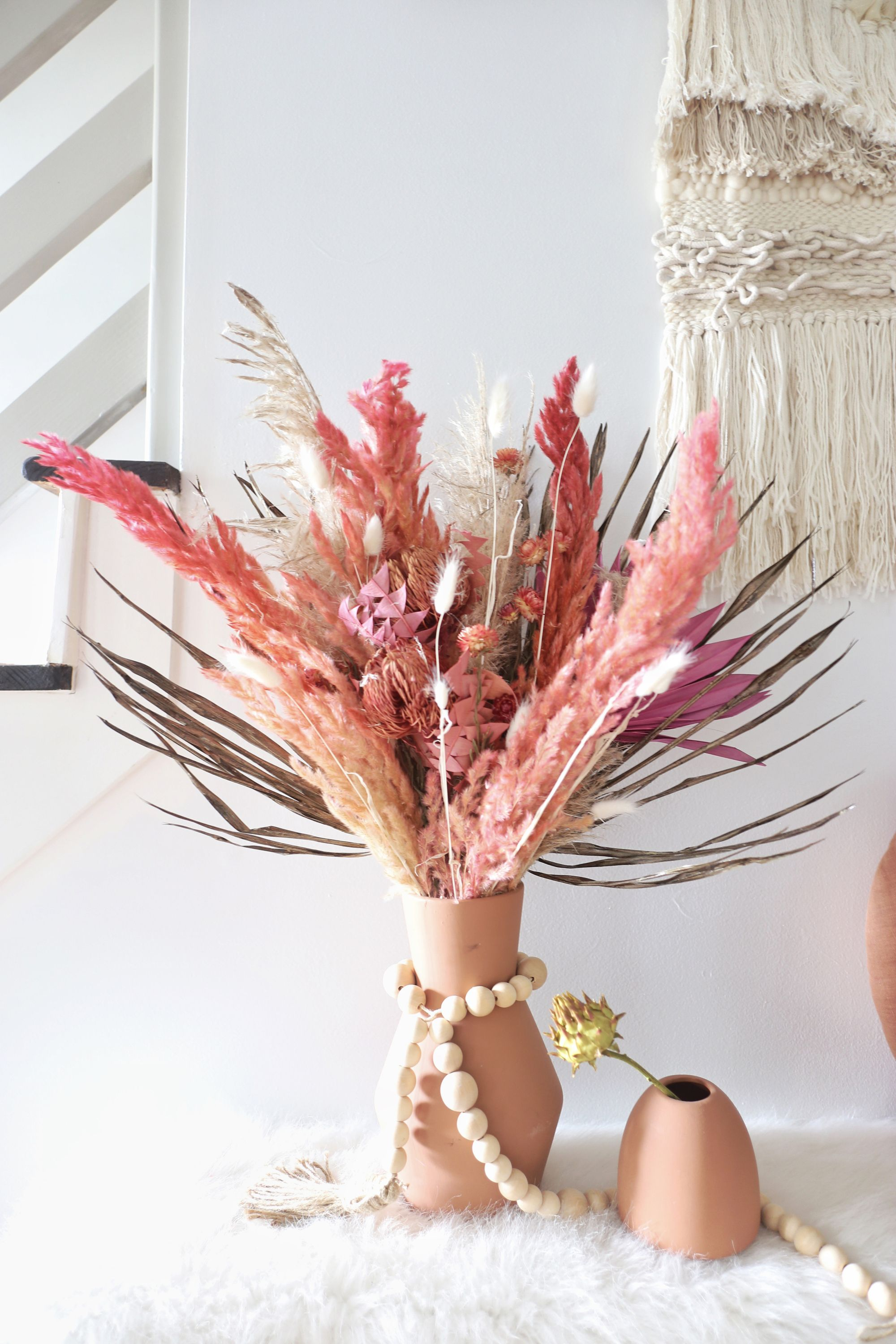 Dried Pampas Grass Arrangement For Home Decor In 2020 Dried Flower Bouquet Dried Flower Arrangements Dried Flowers