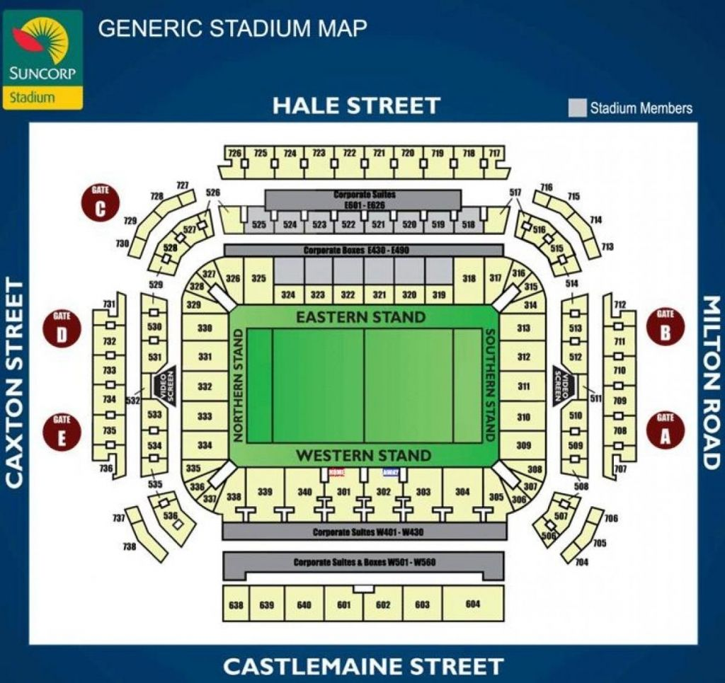 Suncorp Stadium Seating Plan Seat Numbers Di 2020
