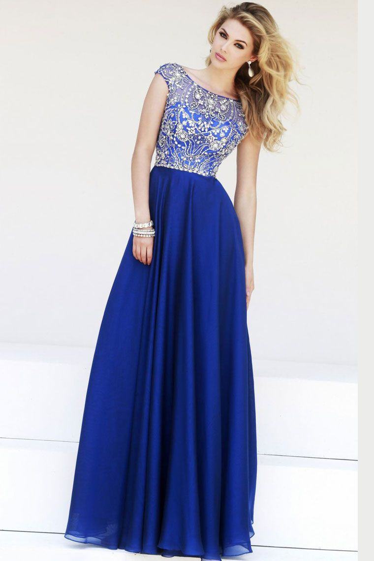 Chiffon long evening dresses uk