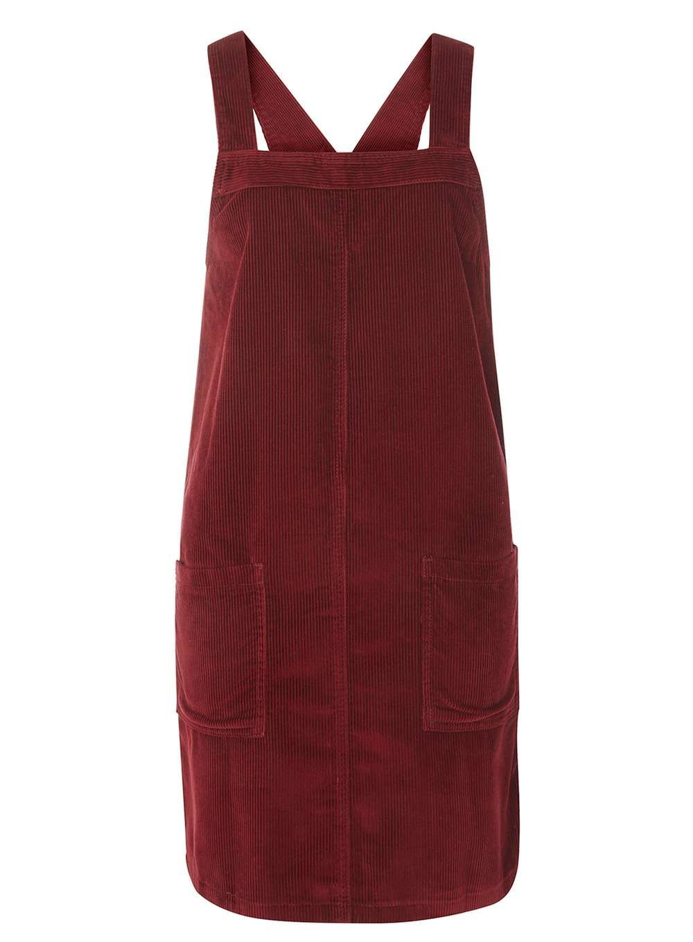 genuine yet not vulgar hot-selling authentic Tall Burgundy Cord Pinafore dress - up to a UK 22 - £26 ...
