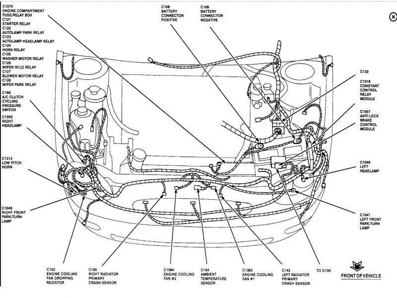 95 ford taurus engine diagram 1997 ford taurus radiator diagram  dengan gambar  taurus  1997 ford taurus radiator diagram