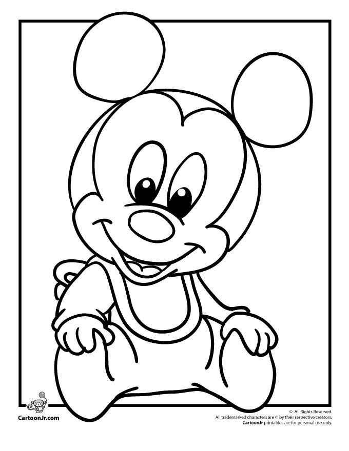 Colouring Pages Disney Games : Cool baby minnie mouse drawing hd
