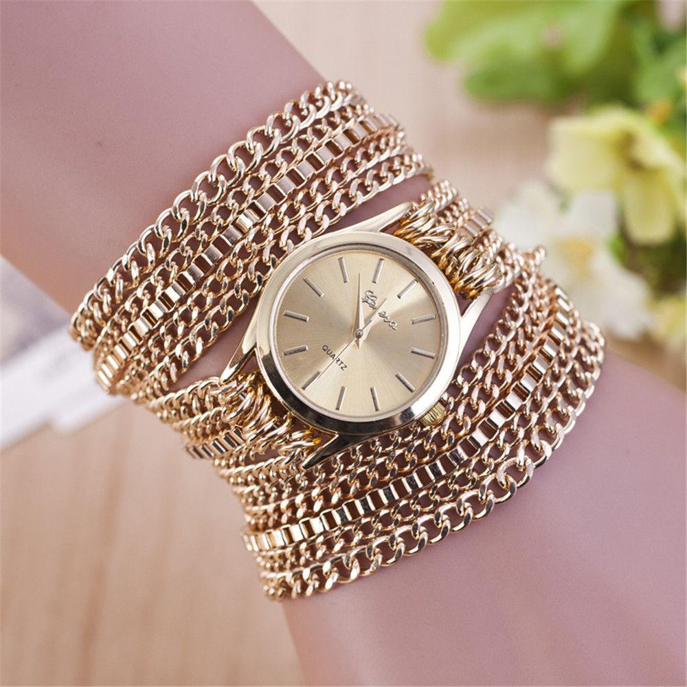 Encontrar Más Relojes pulsera mujer Información acerca de Nueva moda para  mujer de plata oro de la pulsera mujeres de acero inoxidable de cuarzo  Starp ... 77b15340b73b