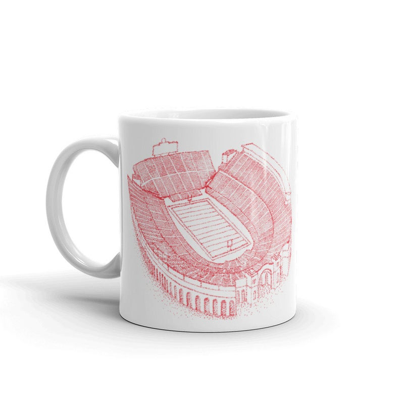 Ohio Stadium - Ohio State Buckeyes - Stipple Art Mug - Stipple Drawing - College Football Mug - Ohio State Buckeyes Art - Ohio State #ohiostatebuckeyes
