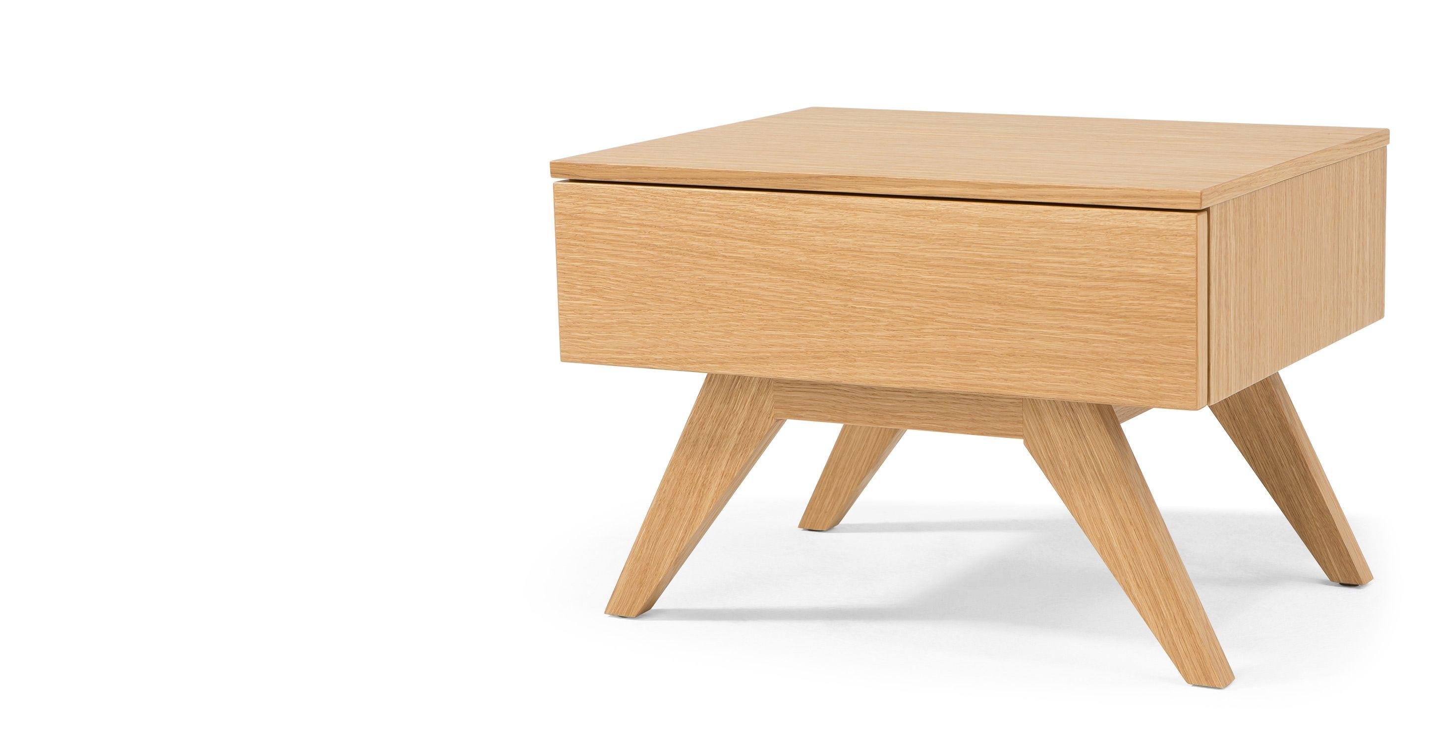 Olsen Une Table De Chevet Chene Made Com Table De Chevet Chene Mobilier De Salon