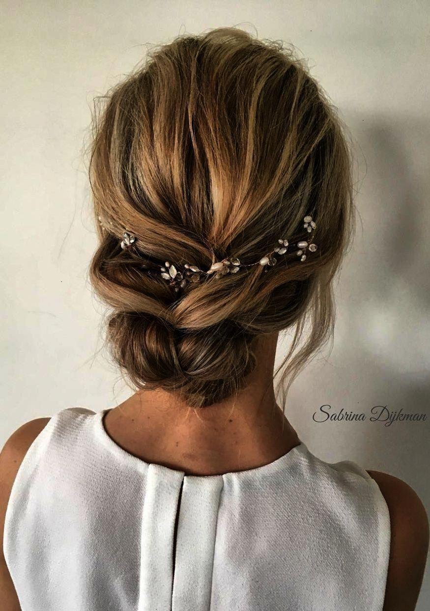 simple loose low updo wedding hairstyles ideas