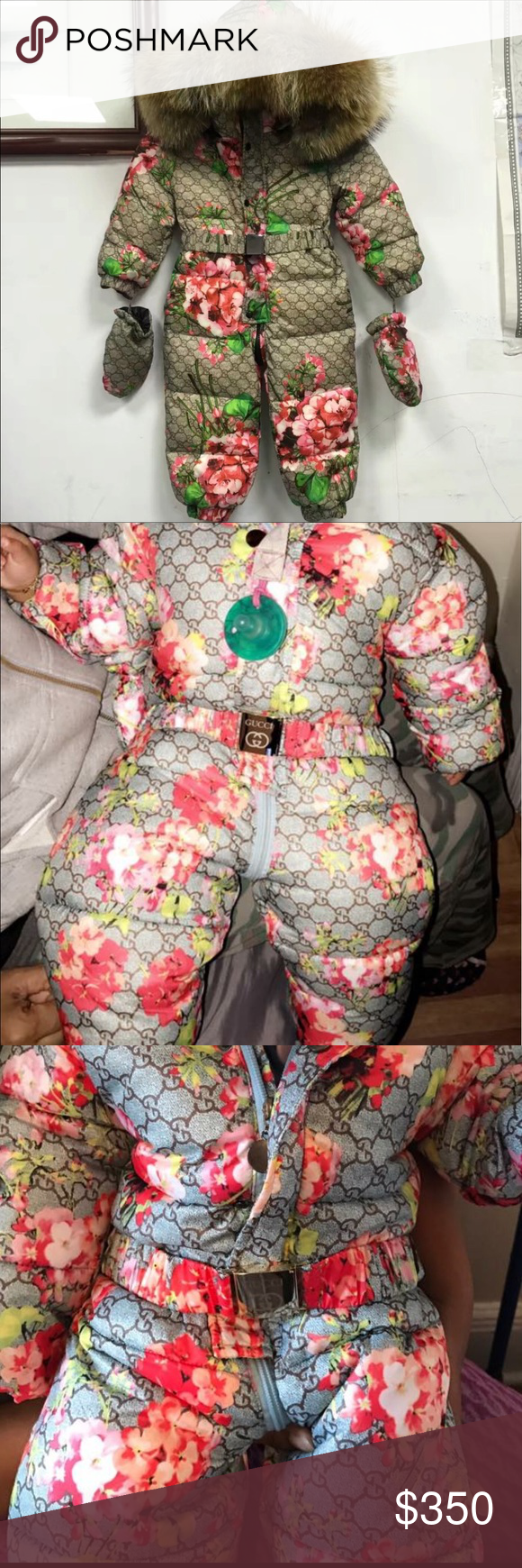8efa3a9c3e41 GG Baby Snow Suit 🅿 🅿️only Gucci snowsuit size 4-6 months but ...