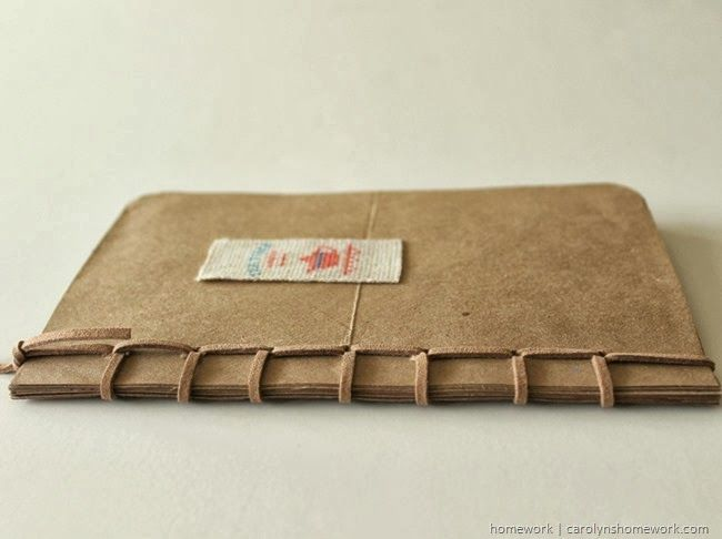 Recyled Grocery Bag Book - Fiskars Art Tools via homework