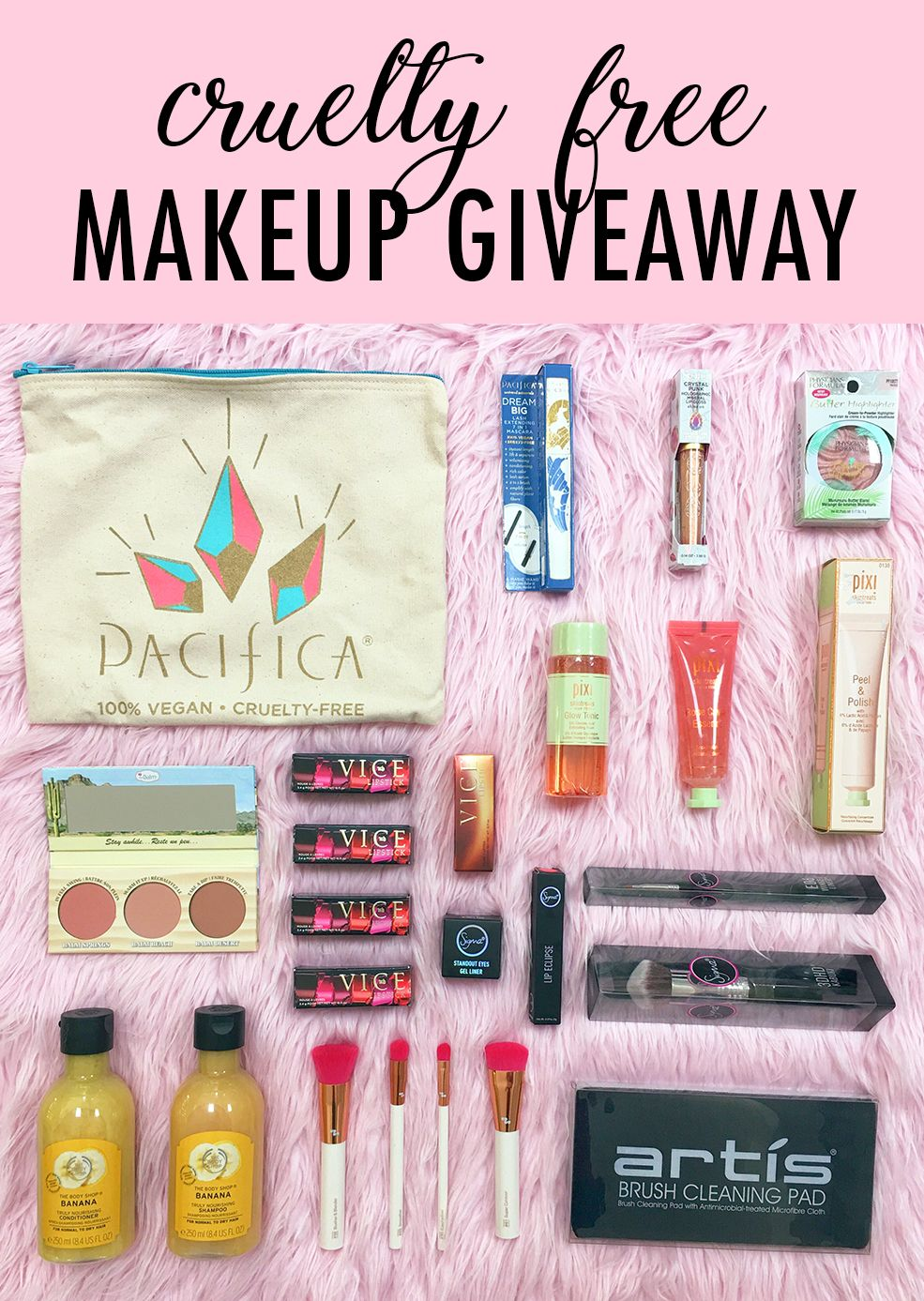 Cruelty Free Makeup Giveaway Including Urban Decay Pacifica Pixi