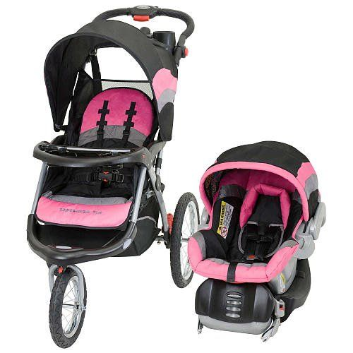 Pink And Black Stroller And Car Seat Trend Expedition Elx