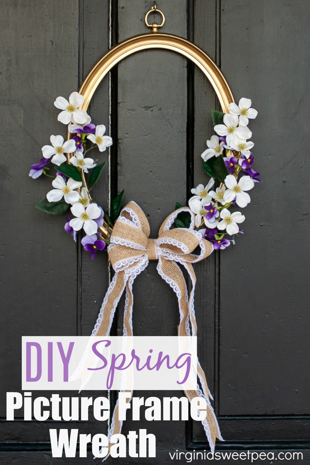 DIY Picture Frame Spring Wreath in 2020 Picture frame