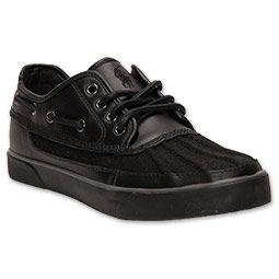 3c300e24026 Men's Polo Ralph Lauren Parkstone Low Casual Shoes | FinishLine.com | Black/ Polo Black