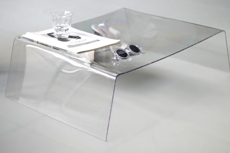 D I Y Clear Side Table Diy Side Table Room Diy Decor
