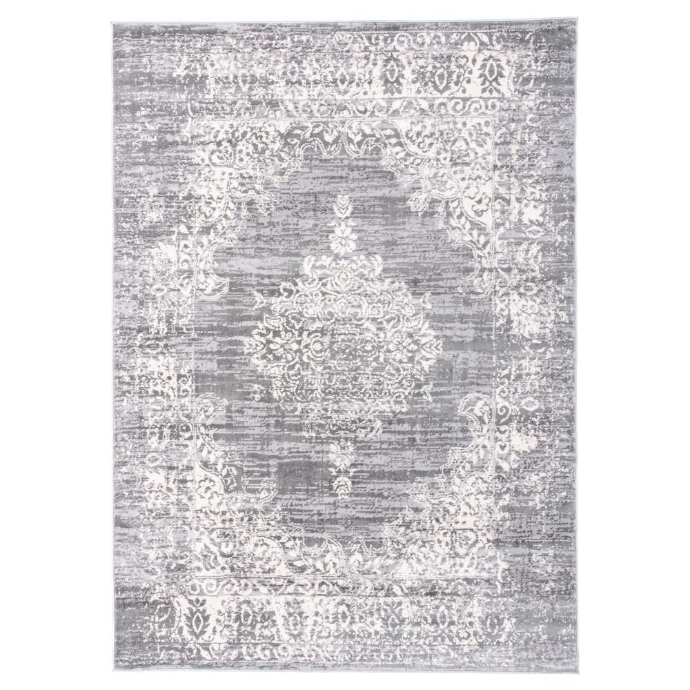 World Rug Gallery Vintage Distressed Traditional Design 3 Ft 3 In X 5 Ft Gray Area Rug Mon834gray3x5 The Hom World Rug Gallery Vintage Area Rugs Area Rugs