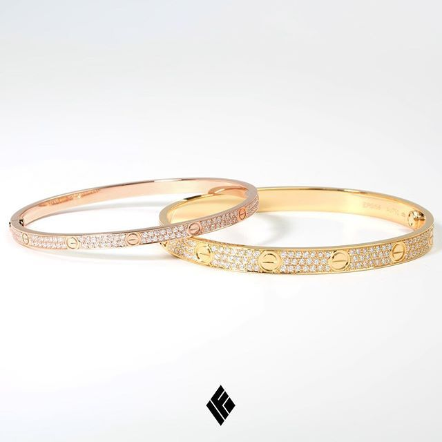 7c1d6e86c5 Custom Bustdown Service Work On 18K Cartier Yellow Gold LOVE   Rose Gold  (Small) LOVE Bracelets. Fully Iced Out To Specs With Our Prestigious VVS+  White ...