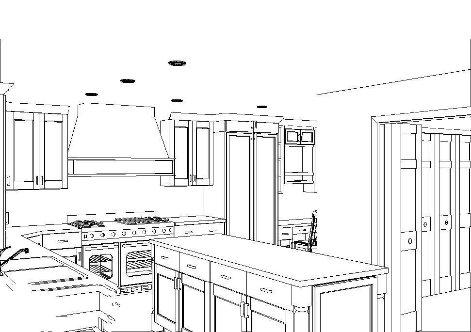 CAD, CAD Drawing, CAD Design, CAD Kitchen Design, Kitchen Design, Black