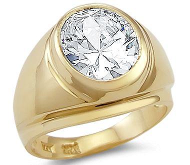 Mens Fancy 10k Rose Gold Engraved Design Red CZ Solitaire Ring