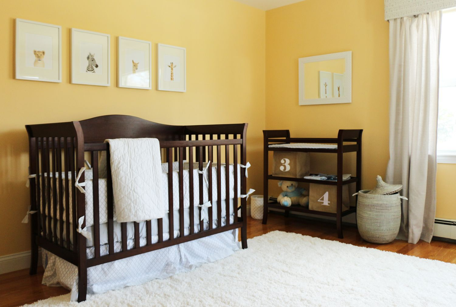 45 Gender-Neutral Baby Nursery Ideas for 2018 | Wood crib, Dark wood ...