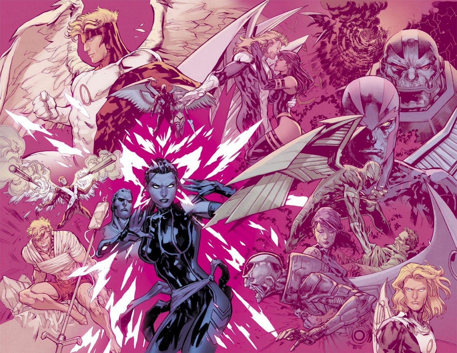 Like A Butterfly Psylocke Archangel Re Connect In Uncanny X Men 6 First Look Psylocke War Art X Men