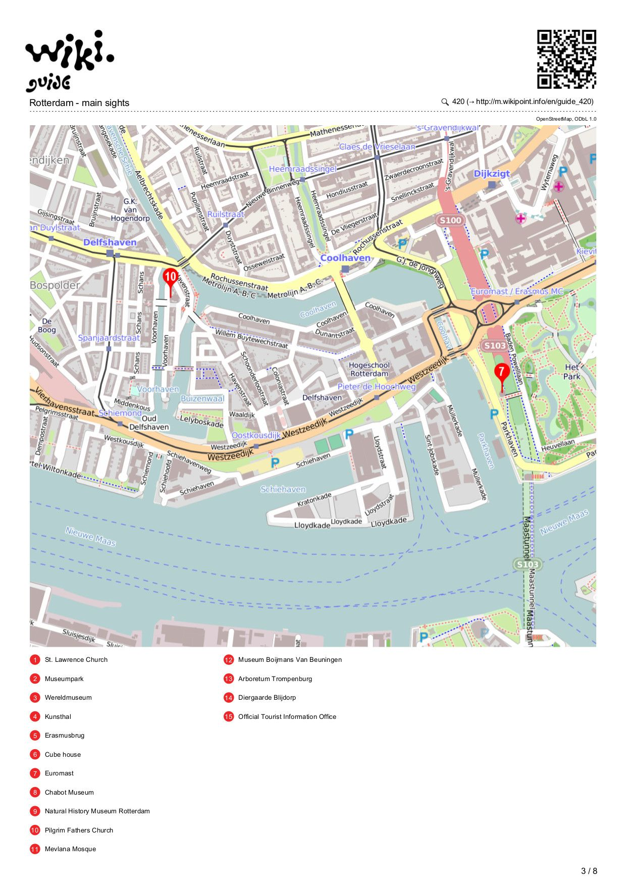 Map Of Rotterdam Plattegrond Pinterest Maps And Rotterdam - Los angeles arboretum map