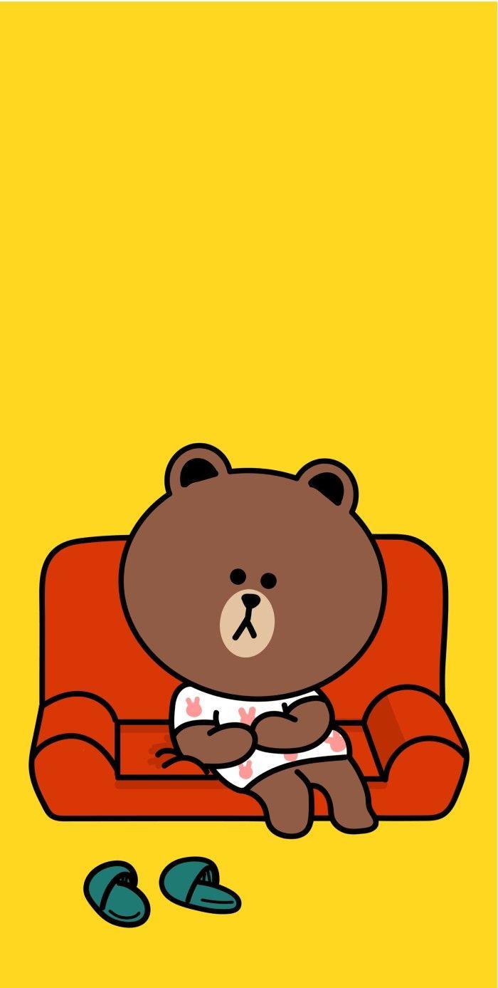 Pin Oleh Jaqueline Souza Di Brown Cony Wallpaper Lucu Beruang Coklat Latar Belakang Animasi