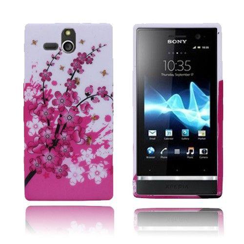 Symphony (Vaaleanpunainen) Sony Xperia U Suojakuori