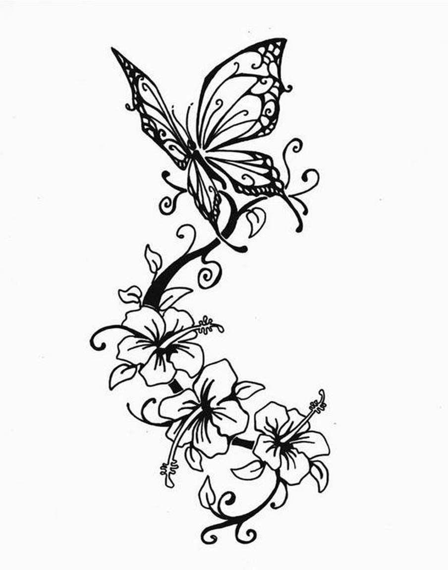 Butterfly star tattoo designs - Ornament