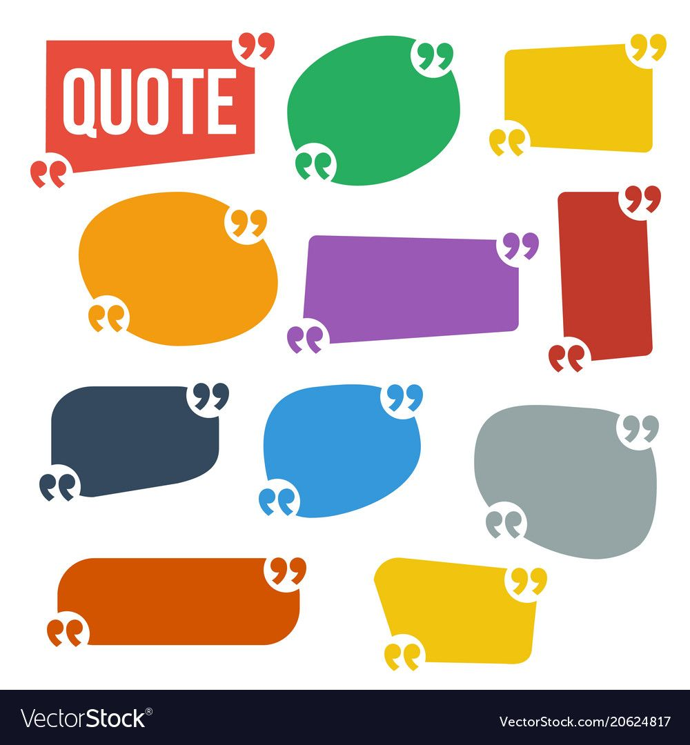 Quote frame set frame for text comment vector image on