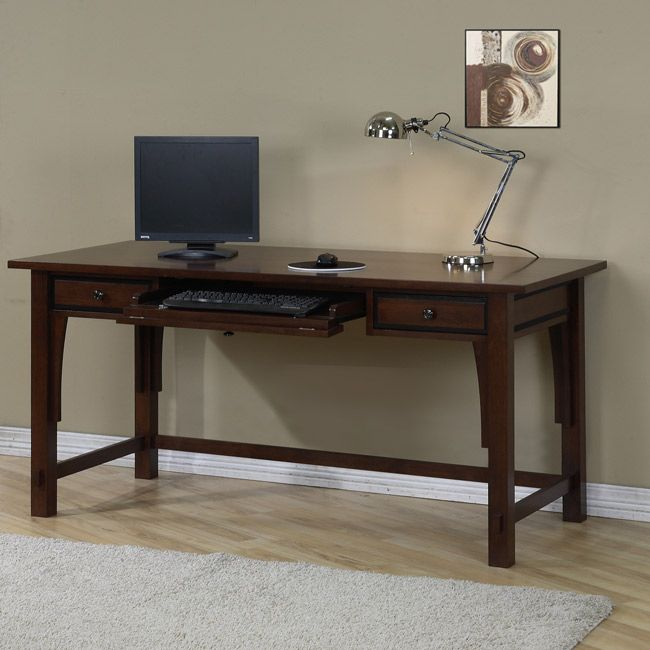The Simple Design Of This Two Drawer Writing Desk Is Excellent For