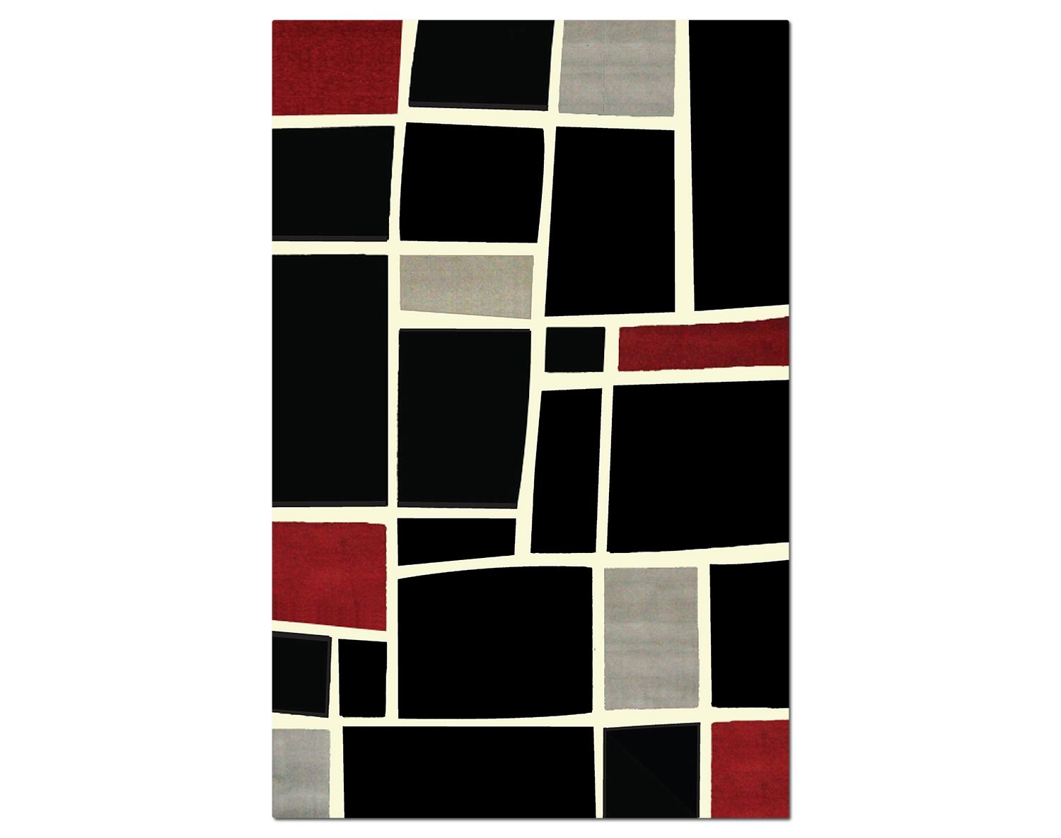 The Terra Squares Collection Black And Gray Value City Furniturefloor Rugsblock