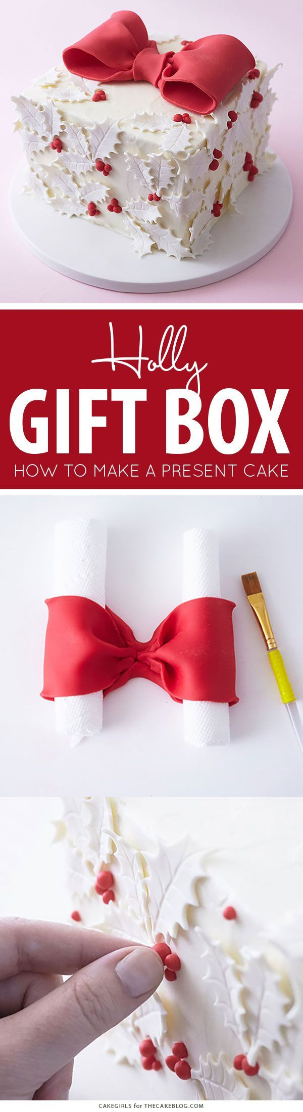 Holly gift box cake boxed cake cake and box holly gift box cake negle Images