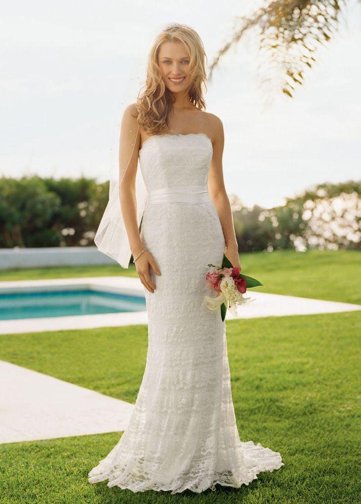 4209db72 Sample: Wedding Dress Beaded Lace Sheath with Godet Inserts - Ivory, 14