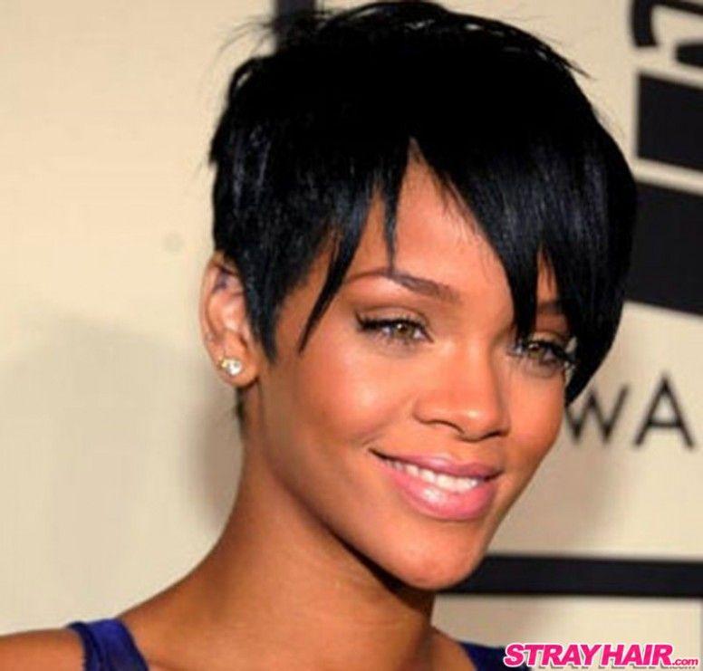 Short Hairstyle Rihanna Di 2020 Gaya Rambut Rambut
