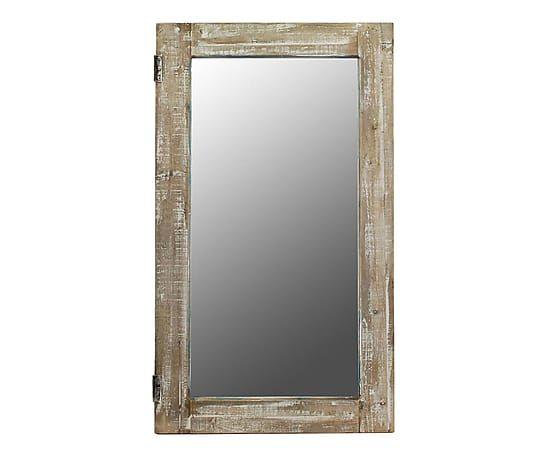 Specchio Da Parete In Legno Rosita 115x63 Cm Quadri E Colori