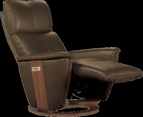 Fauteuil pivotant relax TéNOR en cuir coloris chocolat Décoration