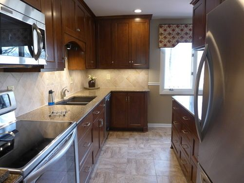 1960 S Small Galley Kitchen Remodeled Before And After Houzz Cheap Kitchen Remodel