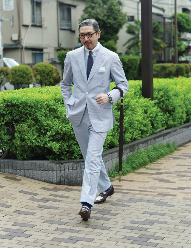 f62416ae7a2f0 The Shoe AristoCat  Bespoke Seersucker Suit for Summer -