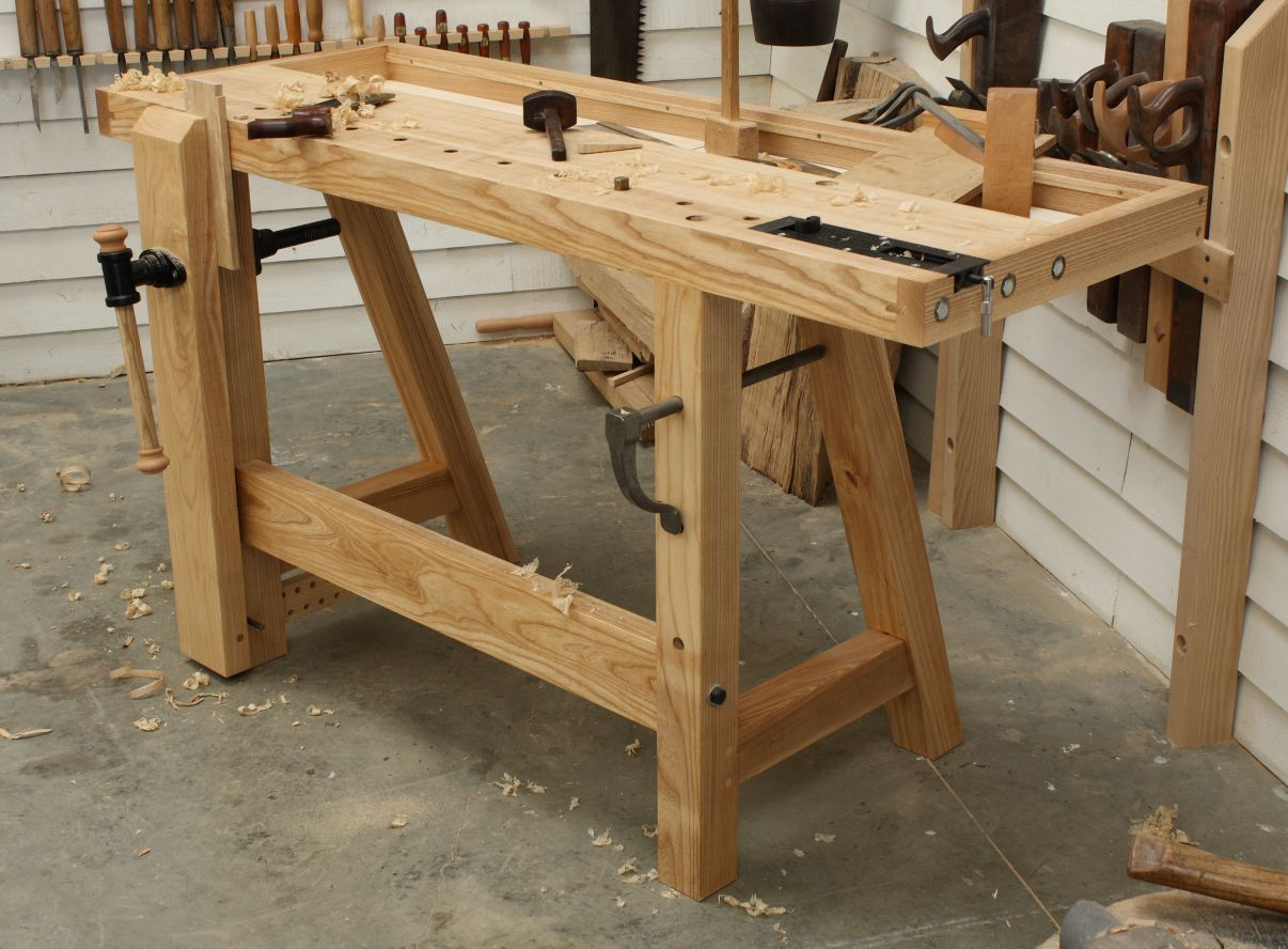 Built in work bench the little john workbench the for Wood bench ideas
